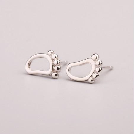 Kolczyki z metalu szlachetnego srebro 925 KST1436