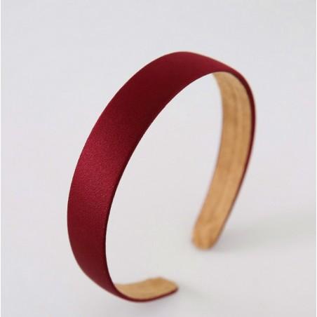 Opaska turban prosta velvet czerwień O222CZE
