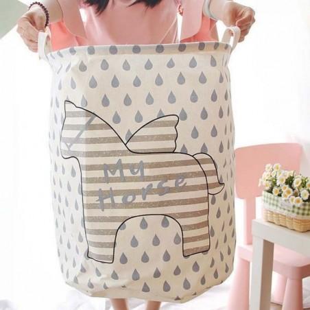 Pojemnik na zabawki kosz, worek na pranie słoń OR2WZ92