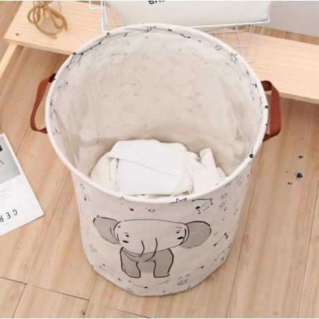 Pojemnik na zabawki kosz, worek na pranie słonik OR2WZ96
