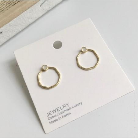 Kolczyki złote kółka K1196