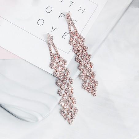 Kolczyki wiszące z kryształkami KSL72