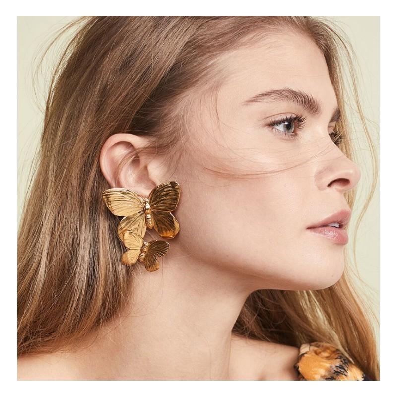 Kolczyki złote przy uchu K1285Z