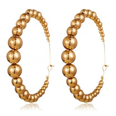 Kolczyki złote przy uchu K1300