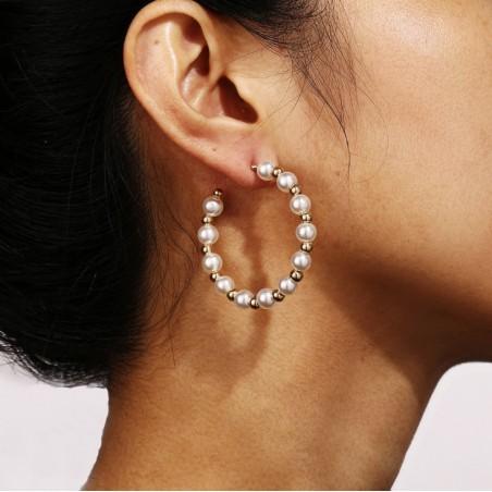Kolczyki złote przy uchu K1301