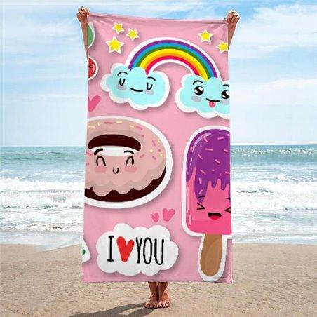 Ręcznik plażowy prostokątny mały 170x90 Sweet REC45WZ4