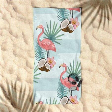 RĘCZNIK PLAŻOWY 170x90 Flamingi i Kokos REC45WZ5