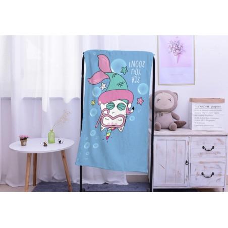 Ręcznik plażowy prostokątny mały 150x70 Syrenki REC47WZ3