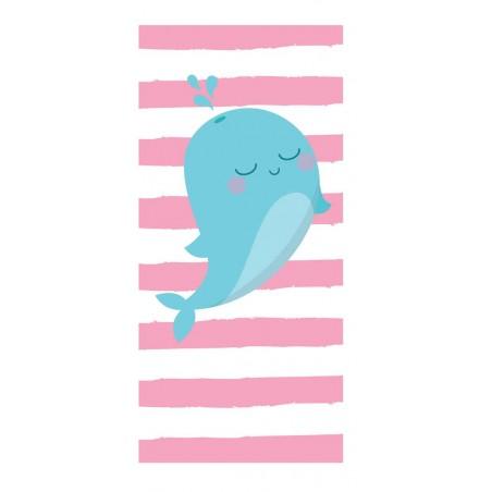 Ręcznik plażowy prostokątny mały 150x70 Wielorybek REC47WZ10