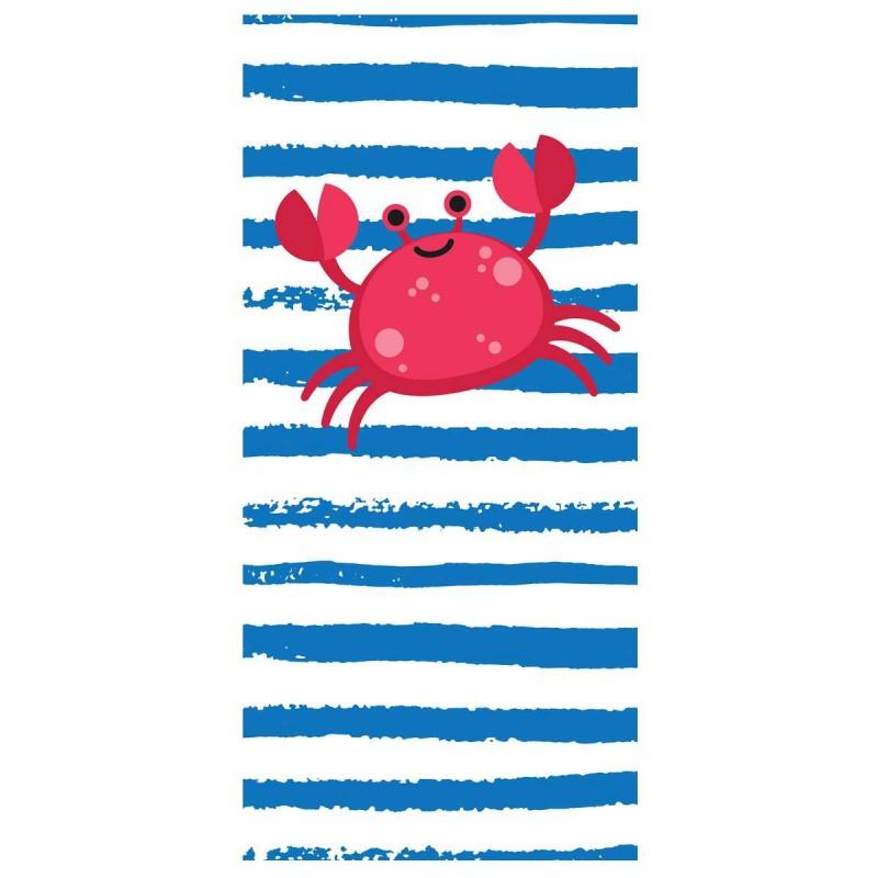 Ręcznik plażowy prostokątny mały 150x70 Krab REC47WZ19