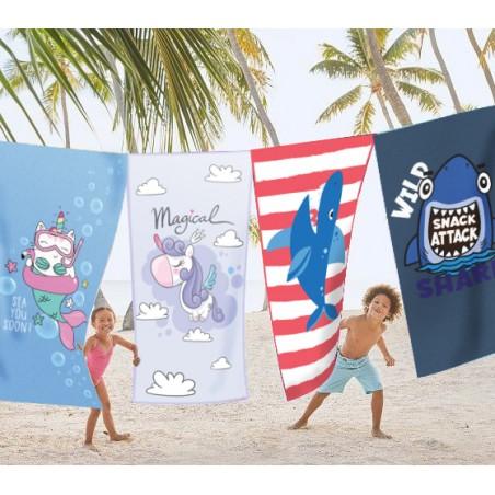 Ręcznik plażowy prostokątny mały 150x70 Różowa Ośmiornica REC47WZ20