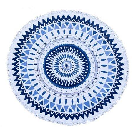 RĘCZNIK PLAŻOWY OKRĄGŁY BOHO MANDALA BLUE REC35WZ1