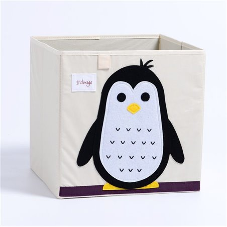 Pojemnik na zabawki sztywny, filc, pingwin OR4WZ11
