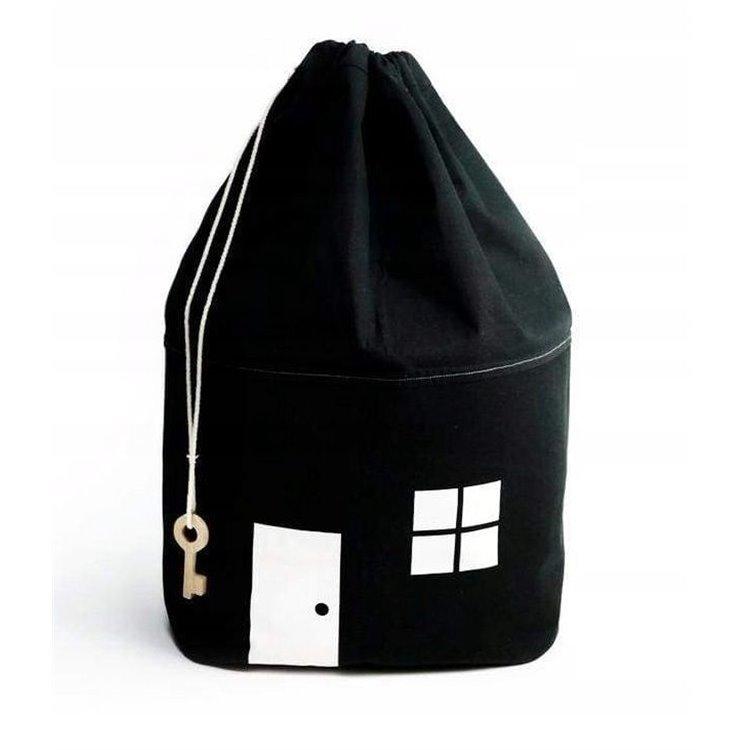 Pojemnik kosz na zabawki worek czarny OR10CZ