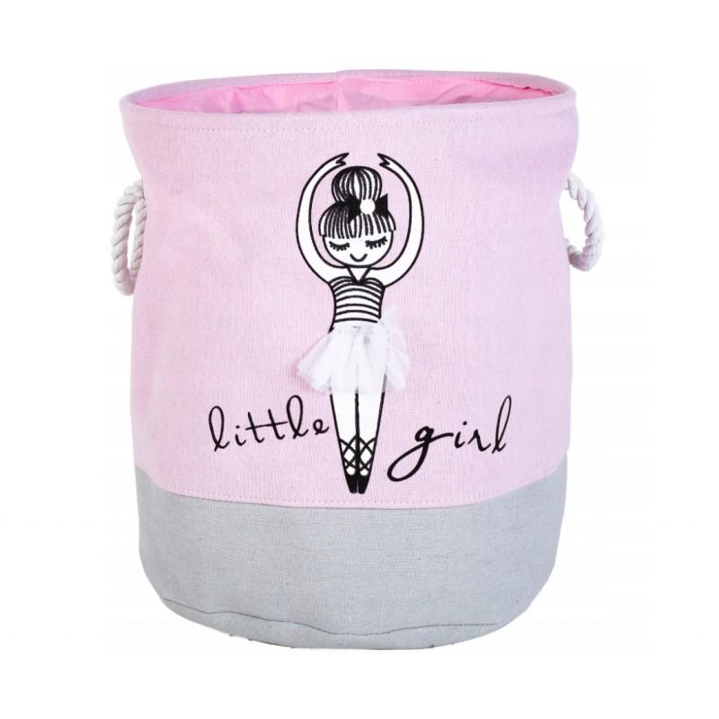 Pojemnik na zabawki, kosz, worek na pranie różowa baletnica OR29WZ1