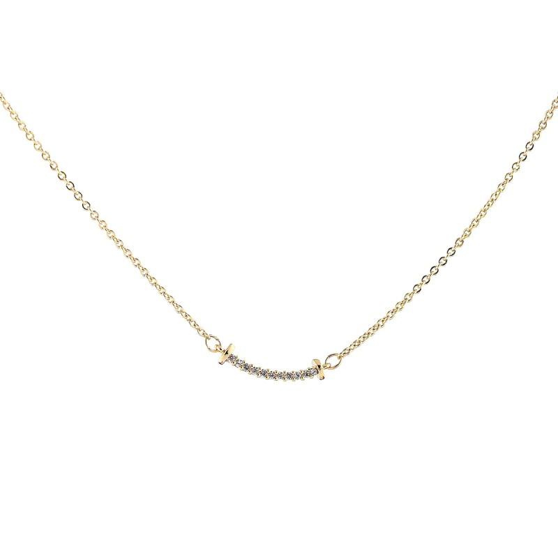 Naszyjnik celebrytka złota stal chirurgiczna  NST988