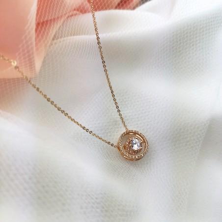 Naszyjnik stal chirurgiczna platerowana złotem NST986