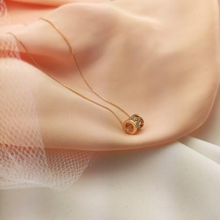 Naszyjnik złota stal chirurgiczna platerowana złotem NST983Z