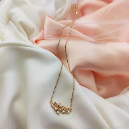 Naszyjnik stal chirurgiczna platerowana złotem NST987