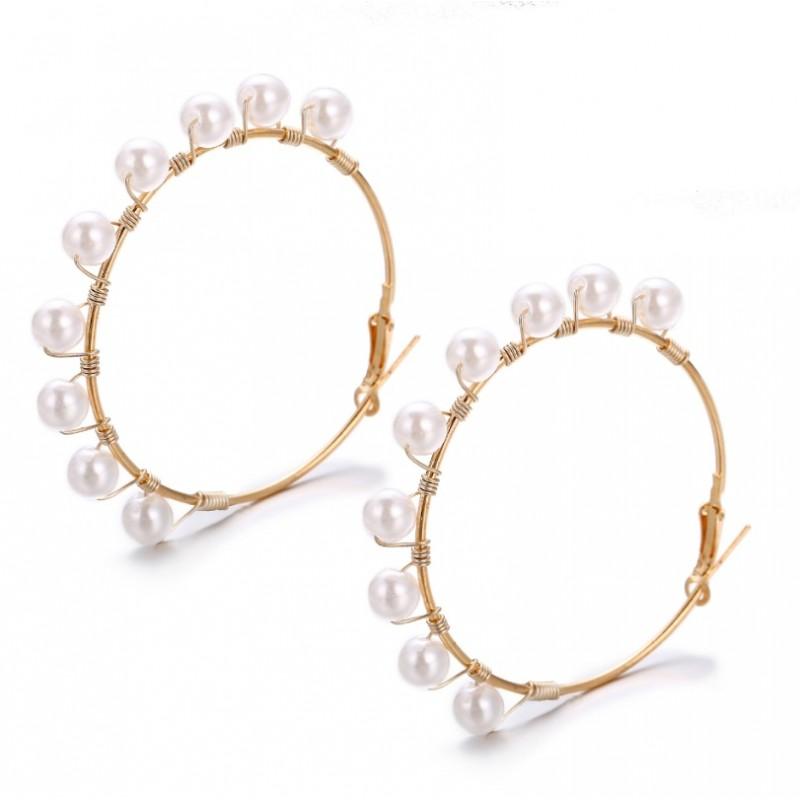 Kolczyki złote przy uchu K1302