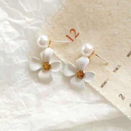 Kolczyki złote przy uchu K1290B