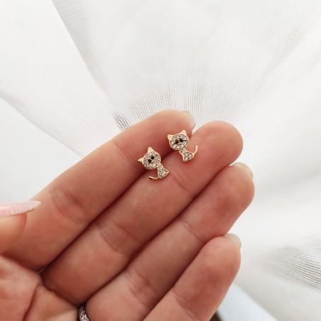 Kolczyki ze stali chirurgicznej platerowane złotem KST1650B