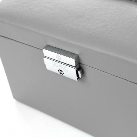 Szkatułka na biżuterię, kuferek w kolorze szarym STENBERG PD49SZ