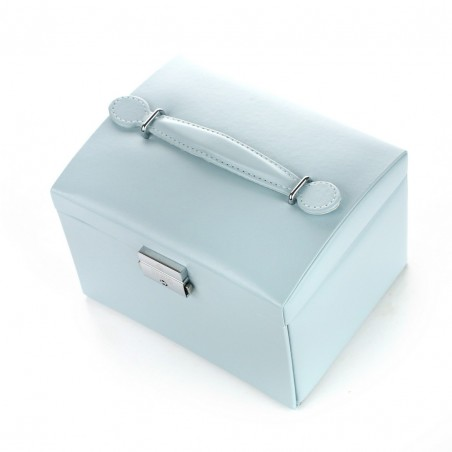 Szkatułka na biżuterię, kuferek w kolorze baby blue STENBERG PD49N