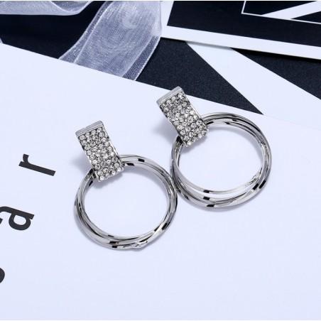 Kolczyki wiszące srebrne K1462S