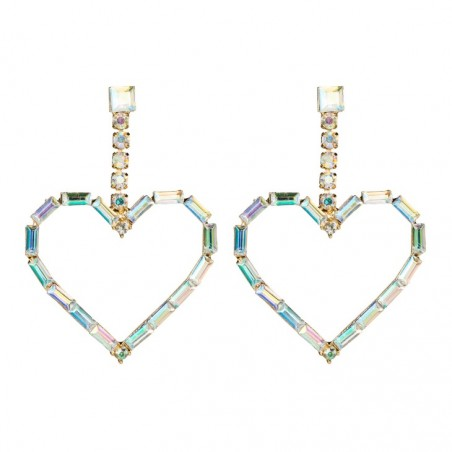 Kolczyki wiszące kryształowe złote K1481KOL