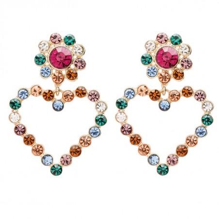 Kolczyki wiszące kryształowe złote K1480KOL