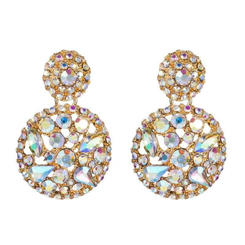 Kolczyki wiszące kryształowe opal K1477