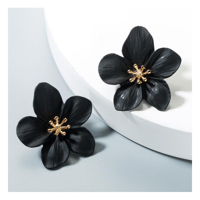 Kolczyki przy uchu Kwiaty Floral K1488CZ