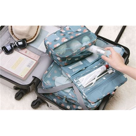 Organizer for cosmetics, blue toilet bag KS18WZ1