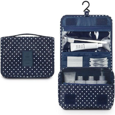 Organizer for cosmetics, navy blue toilet bag KS18WZ6