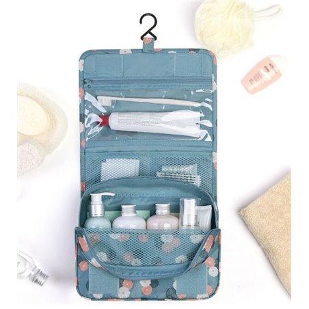 Organizer na kosmetyki, kosmetyczka rozkładana granatowa KS18WZ6