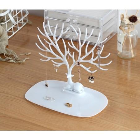 Ekspozytor na biżuterię - naszyjnik, pierścionki białe drzewo E31