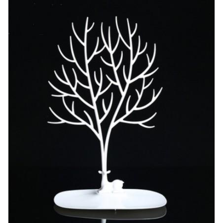 Ekspozytor na biżuterię - naszyjnik, pierścionki białe drzewo E32B