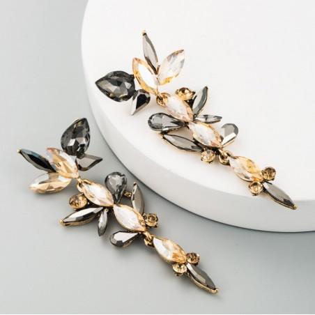 Kolczyki wiszące Dżetowe kryształ K1486K