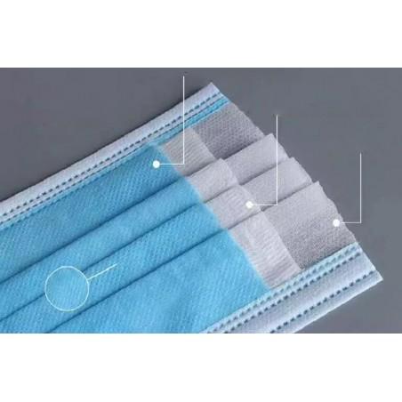 Maseczka ochronna, higieniczna 3-warstwowa 50 szt MA01