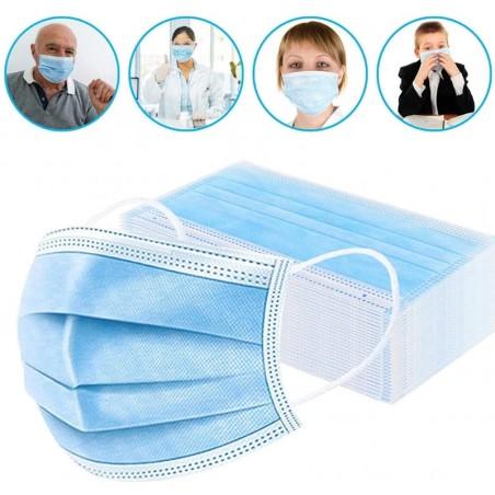 Maseczka ochronna, higieniczna 3-warstwowa 10 szt MA02
