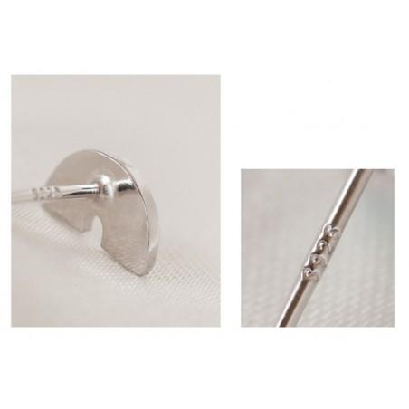 Kolczyki z metalu szlachetnego srebro 925 KST1424