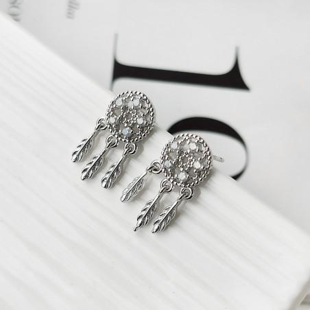 Kolczyki srebrne 925 łapacz snów KST1432