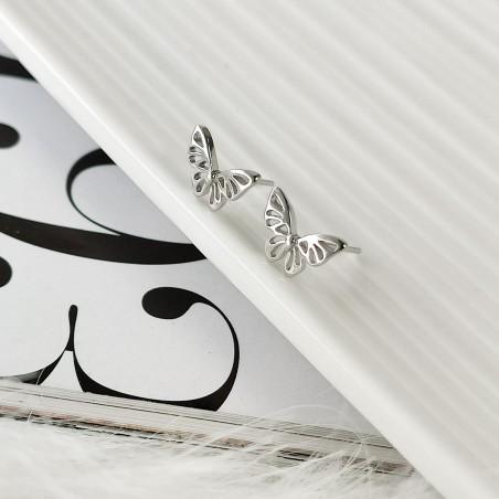 Kolczyki srebrne 925 motylki KST1439