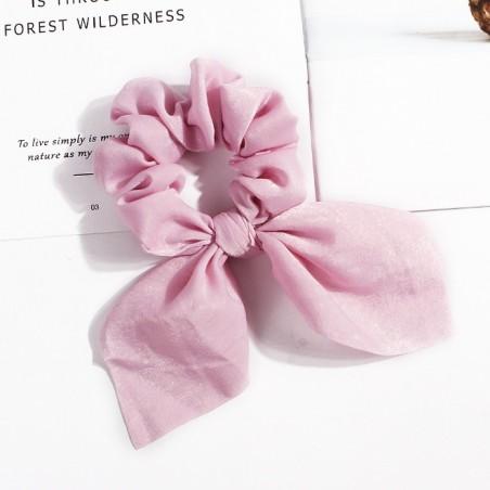 Gumka do włosów apaszka krótka różowa PIN UP GUM6R