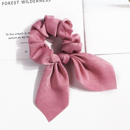 Gumka do włosów apaszka krótka ciemna różowa PIN UP GUM6CR