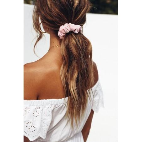 Gumka do włosów frotka różowa GUM2R