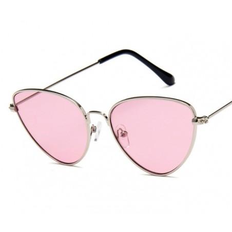 Okulary przeciwsłoneczne OVL kocie róż ze srebrem OK179WZ5
