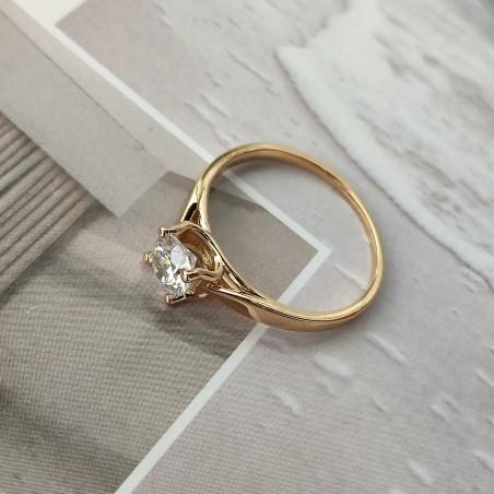 Pierścionek stal chirurgiczna platerowana złotem PST559