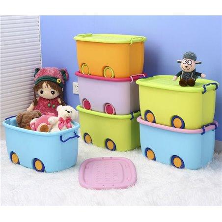 Organizer na zabawki na kółkach zielony OR17ZIE